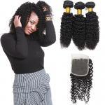 Cheap Genuine Raw Peruvian Human Hair Extensions , Peruvian Virgin Hair With Closure for sale