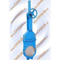 Dark rod bevel gear knife gate valve