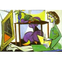 Interior with a Girl Drawing. picasso202 - AMAZON OIL PAINTING CO.,LTD.