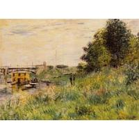 Cheap Impressionist(3830) The_Banks_of_the_Seine_at_the_Argenteuil_Bridge for sale