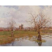 Cheap Impressionist(3830) Landscape_with_Flooded_Fields for sale