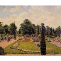 Cheap Impressionist(3830) Kew_Gardens_-_Path_between_the_Pond_and_the_Palm_House for sale