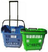 Cheap Mobile Trolley Baskets With Casters for sale
