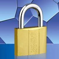 Cheap Ti-gold Dual-line Padlock for sale