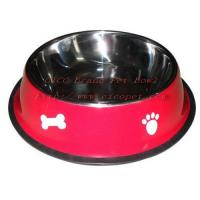 Cheap 11 4/5 inch green colored dog dish 001C-30 for sale