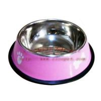 Cheap 7 inch yellow colored dog bowl 001C-18 for sale