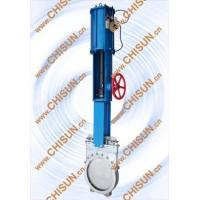 Cheap pneumatic with hand wheel kinfe gate valve for sale