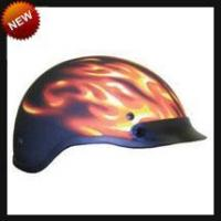 Cheap DOT Ghost Matte Flame Motorcycle Helmet for sale
