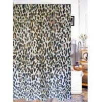 fabric shower curtains animal leopard print fabric shower curtain