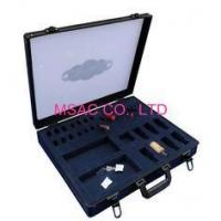 Cheap Black Acrylic Cosmetic Case , Slant Holders In EVA For Eyebrow Pencils for sale