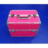 3mm MDF Pink Aluminum Makeup Nail Case Handle For Travel With Two Locks