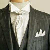 Cheap Black Suit With Ascot Tie for sale
