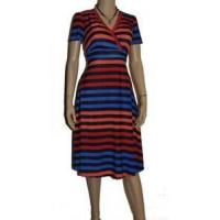 Dresses womens blue red orange sunny dress plus size 2x 16 18 striped