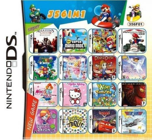 wholesale 3pieces lot 356 in 1 game card for 3ds ndsi ndsill ndsixl ndsl nds with certificate. Black Bedroom Furniture Sets. Home Design Ideas