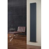 China Eclipse Anthracite Vertical 5 Tube Double Panel Radiator 1800mm x 290mm on sale