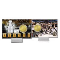 Cheap Boston Bruins Six Time Stanley Cup Champions Bronze Coin Card for sale