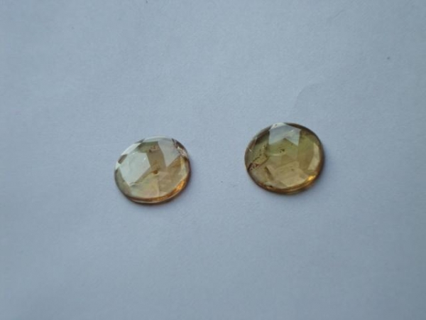 Quality Orange Tourmaline Fac Coin Slices wholesale