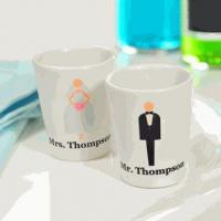 Buy cheap Personalized Custom Bride & Groom Shot Glasses (Set of 2) from wholesalers