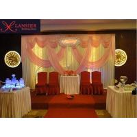 ice silk material stage backdrop curtain wedding decoration background