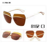 Customized Your Own Logo Metal Sunglasses With Mirror Lens