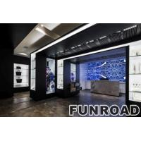 Cheap LED lighted wooden retail fixtures for handbag shop for sale