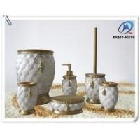 Quality resin bathroom accessories set buy from 546 for Stone coloured bathroom accessories