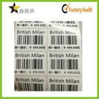 Cheap 2016 Customized Self Adhesive Barcode Sticker Labels for sale