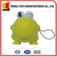 Cheap PU Stress Toys Factory custom Mini keychain frog Cartoon action figures for baby toy for sale