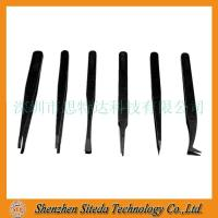Cheap STD Antistatic plastic tweezers welcome to order for sale