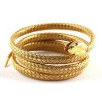 Cheap stainless steel simulation gold snake bangle for sale