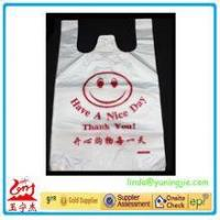 Cheap Cheap custom HDPE/LDPE plastic t-shirt shopping bags with printing for sale