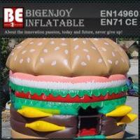 Hamburger shape inflatable jump house