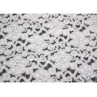 Elegant Ivory Brushed Water Soluble Lace Fabric For Dress Eco Friendly CY-LQ0042 Manufactures