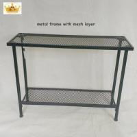 High quality heavy duty 2 layes shelves metal storage rack