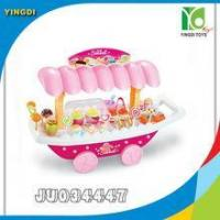 Beautiful girl gift plastic ice cream toy with light,music