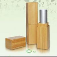 Cheap cosmetic package square lipstick case in bamboo material for sale