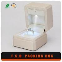 Cheap Fancy Led Light White Ring Jewelry Packaging Box for sale