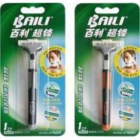 Cheap Super stainless steel twin blade Razor pivoted head rubber handle for men for sale