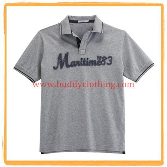 Embroidered pique polo shirt 11004 with certificate of for Embroidered work shirts no minimum order