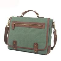 Cheap Branded design high end canvas leather mens laptop briefcase for sale