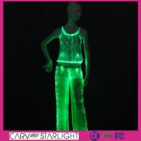 Cheap YQ-62-66 light up women tank top & led pants for sale
