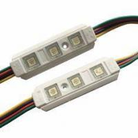 Cheap LED Pixel Module Epistar Chip 3SMD 5050 RGB LED Module Waterproof IP67 With Lense PC Material for sale