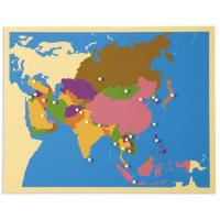 Cheap Geography Montessori material Mathematics -puzzle map :Asia for sale