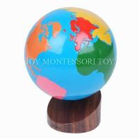 Cheap Geography Montessori material Mathematics -continents globe for sale