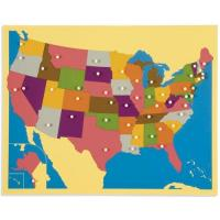 Cheap Geography Montessori material Mathematics -puzzle map :USA for sale