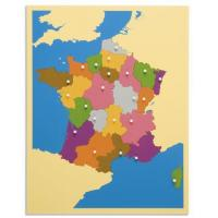 Cheap Geography Montessori material Mathematics -puzzle map :France for sale