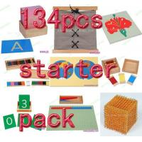 Cheap Montessori material Mathematics -134pcs starter pack for sale