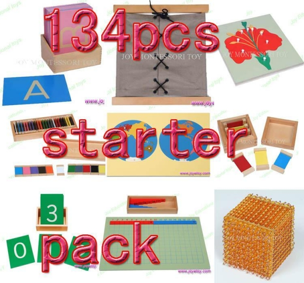 Quality Montessori material Mathematics -134pcs starter pack wholesale