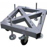 Cheap Custom Welding Fabrication 290*290mm Spigot Square Truss Steel Base With Wheel for sale