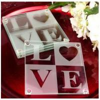 Cheap Classical Love Coaster Set Favors(2pcs/set) for sale